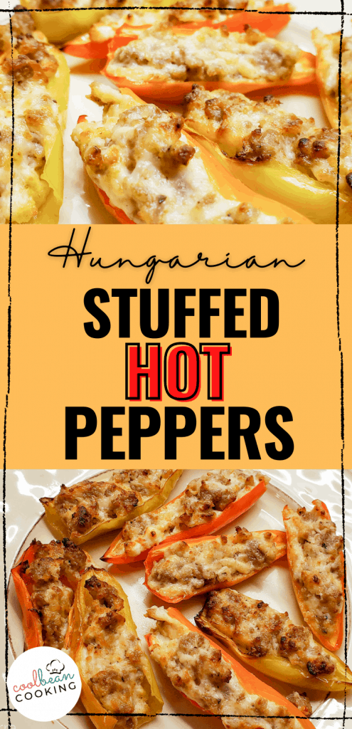 stuffed hot Hungarian wax peppers