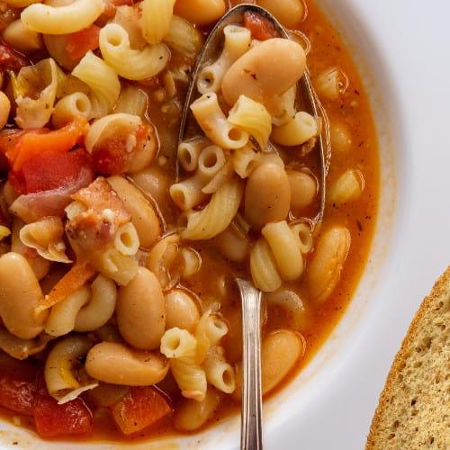 quick pasta fagioli