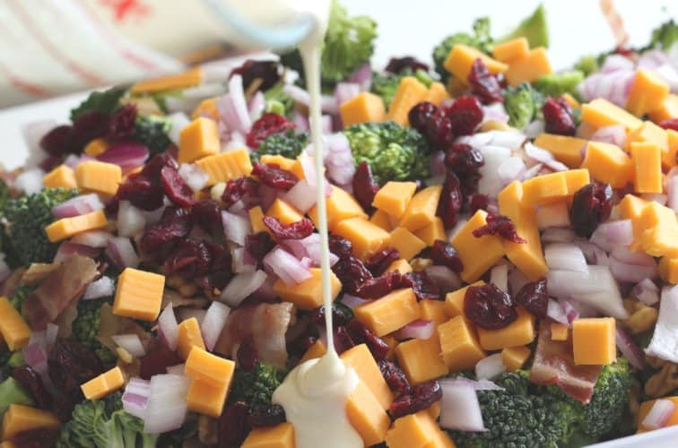 cold broccoli salad with dressing