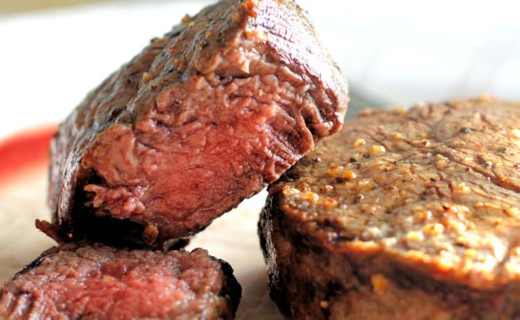 juicy sirloin steak made in the air fryer