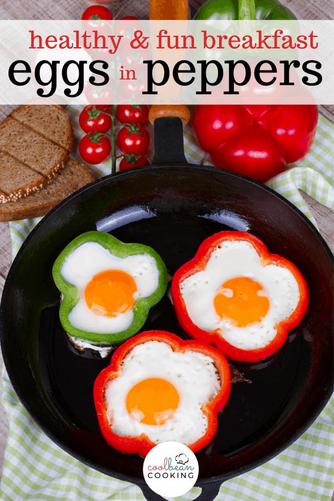 sunny side up eggs inside pepper rings