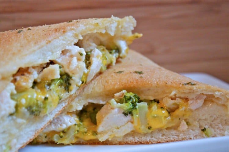 Broccoli Chicken and Cheese Pockets