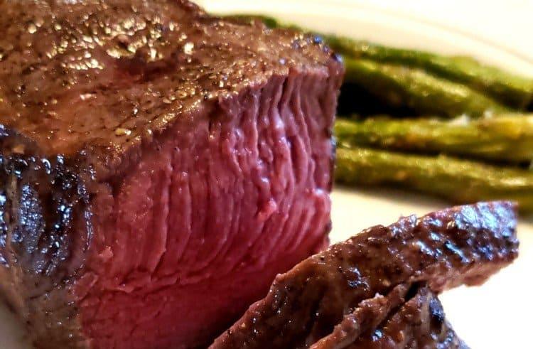 Air Fryer Steak Cooked Medium Rare