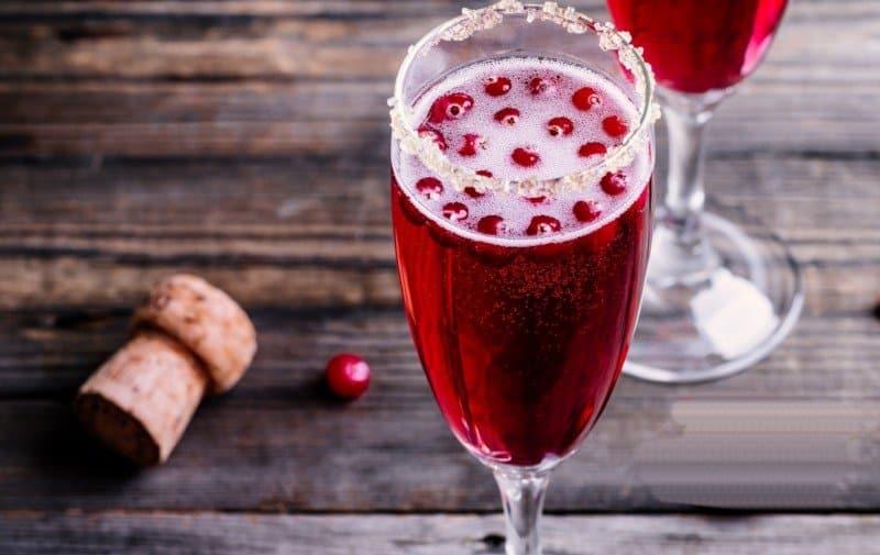 Festive Cranberry Mimosas