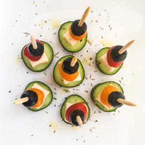 Greek Salad on a Stick Appetizer
