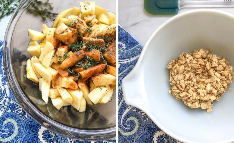 Apple Mixture and Rolled Oats