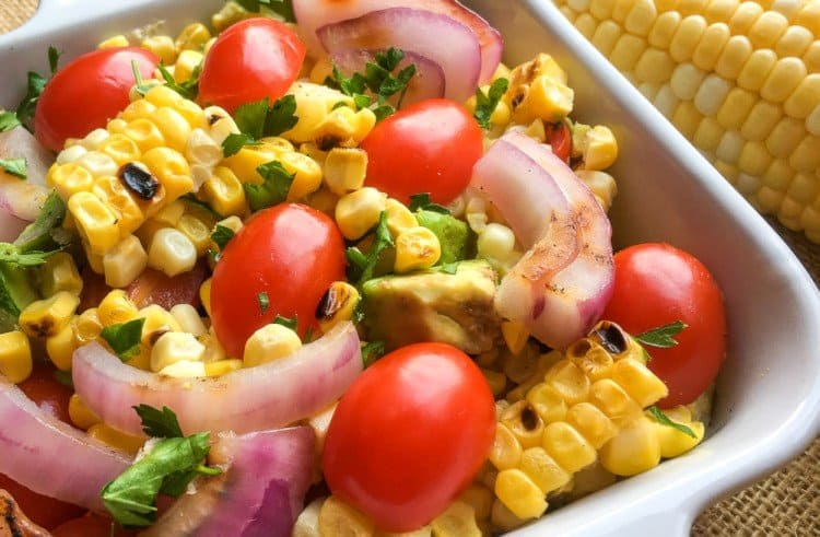 Grilled Corn and Avocado Summer Salad