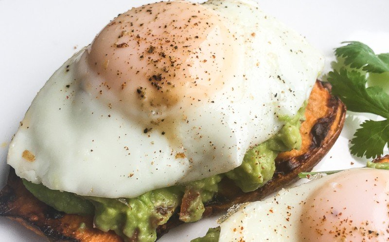 Avocado and Egg Sweet Potato Toast