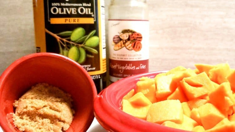 Ingredients for Air Fryer Seasoned Sweet Potatoes
