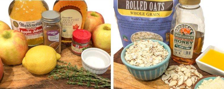Ingredients for Cinnamon Apple Crisp