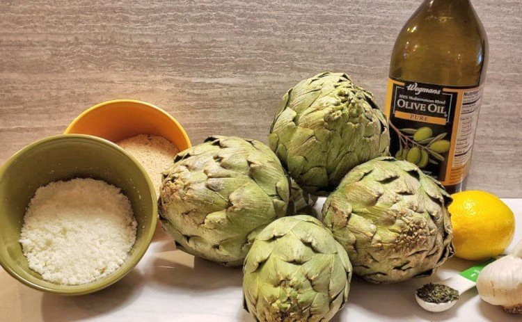 Ingredients for Stuffed Artichokes