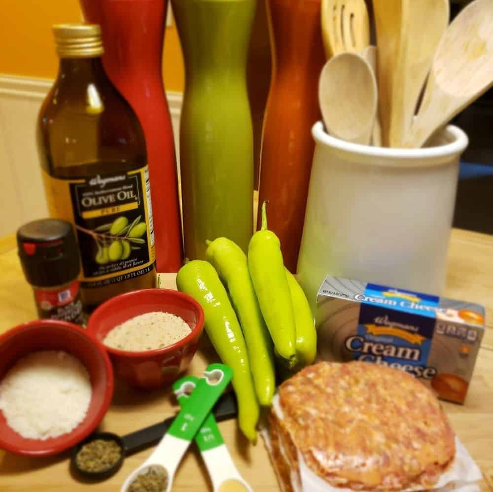 Ingredients for Stuffed Hot Hungarian Peppers