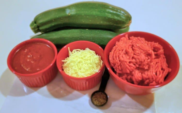 Ingredients for Italian Zucchini Boats