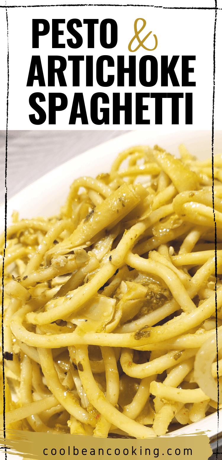 Pesto and Artichoke Heart Spaghetti