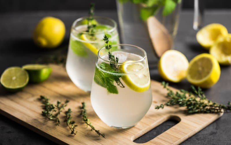 Lemon and Herb Spritzer