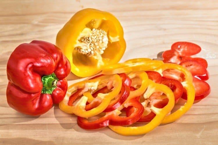 Sliced Bell Pepper Rings
