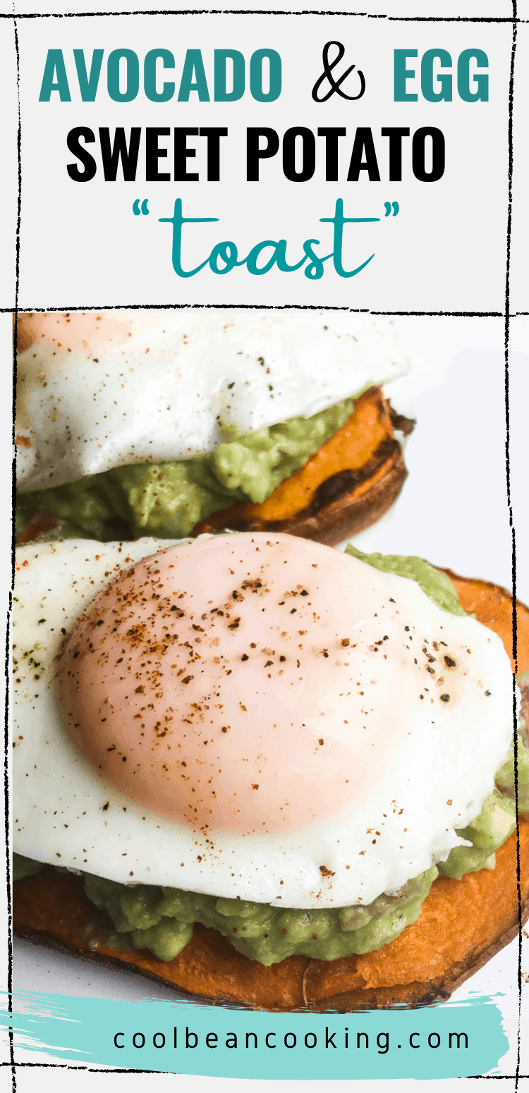 Toasted Avocado and Egg Sweet Potato