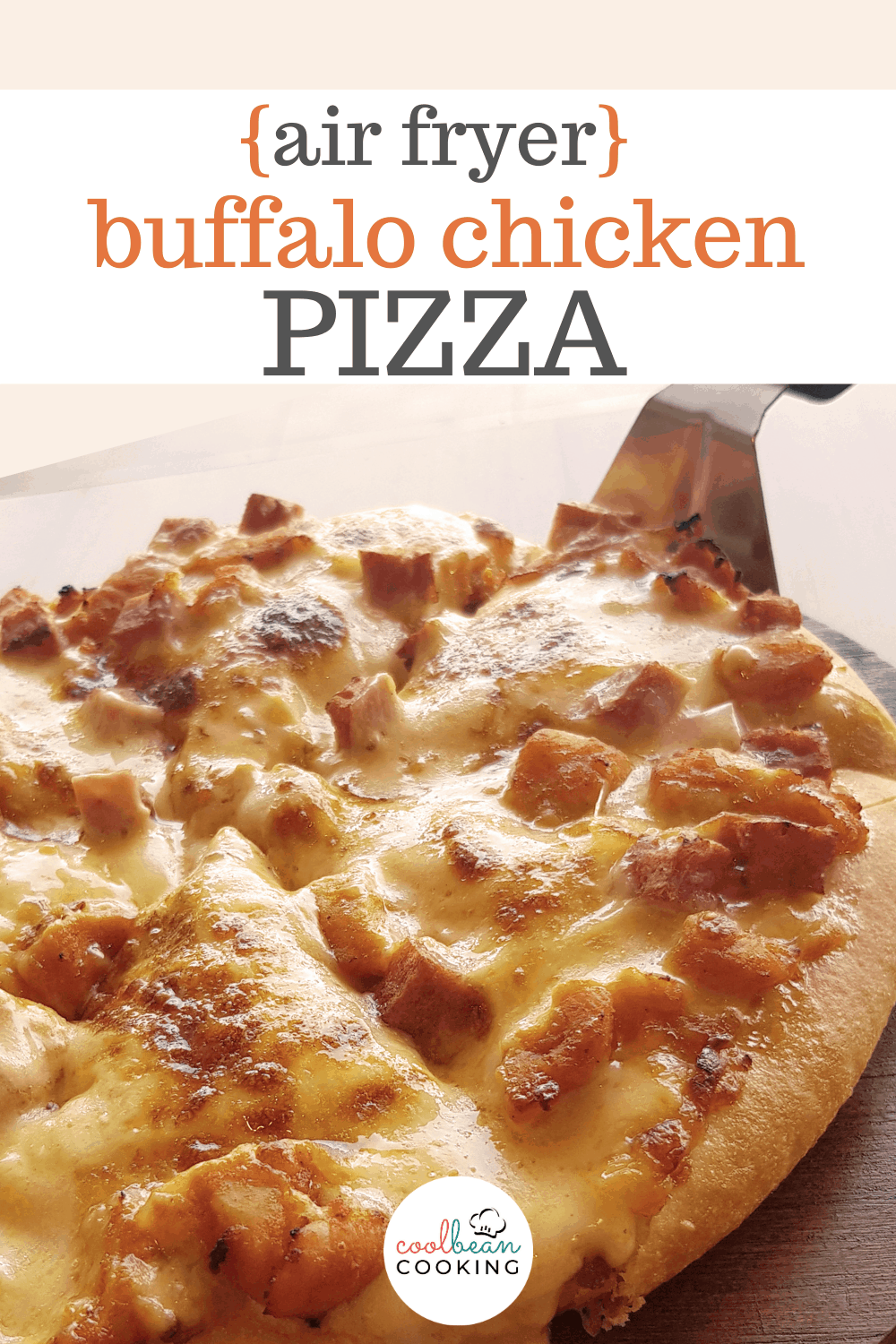 buffalo chicken pizza made in the air fryer