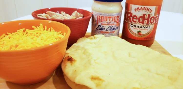 Everything you need to make Buffalo chicken pizza in the air fryer