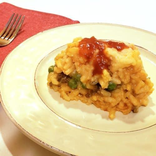 Arancini Rice Ball Casserole