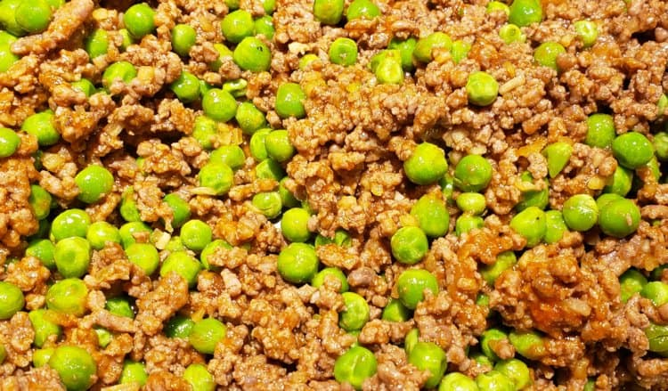 Ground Beef and Pea Mixture