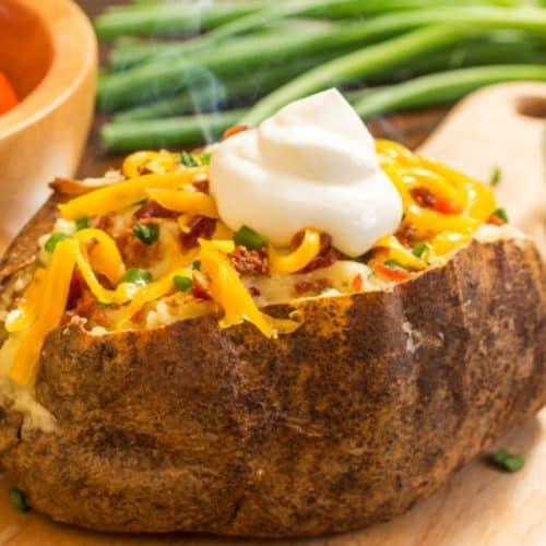 Air Fryer Loaded Stuffed Potatoes