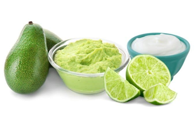 Avocado, Greek yogurt and Lime Juice