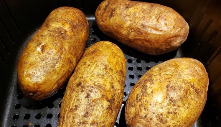 Baked Potatoes Cooked in Air Fryer