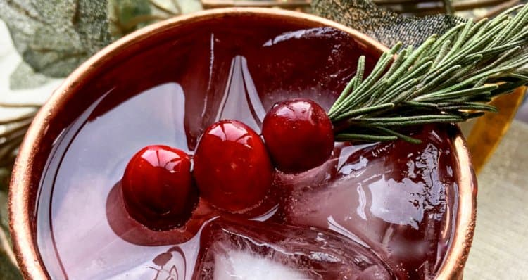 Cranberry Moscow Mule Garnish