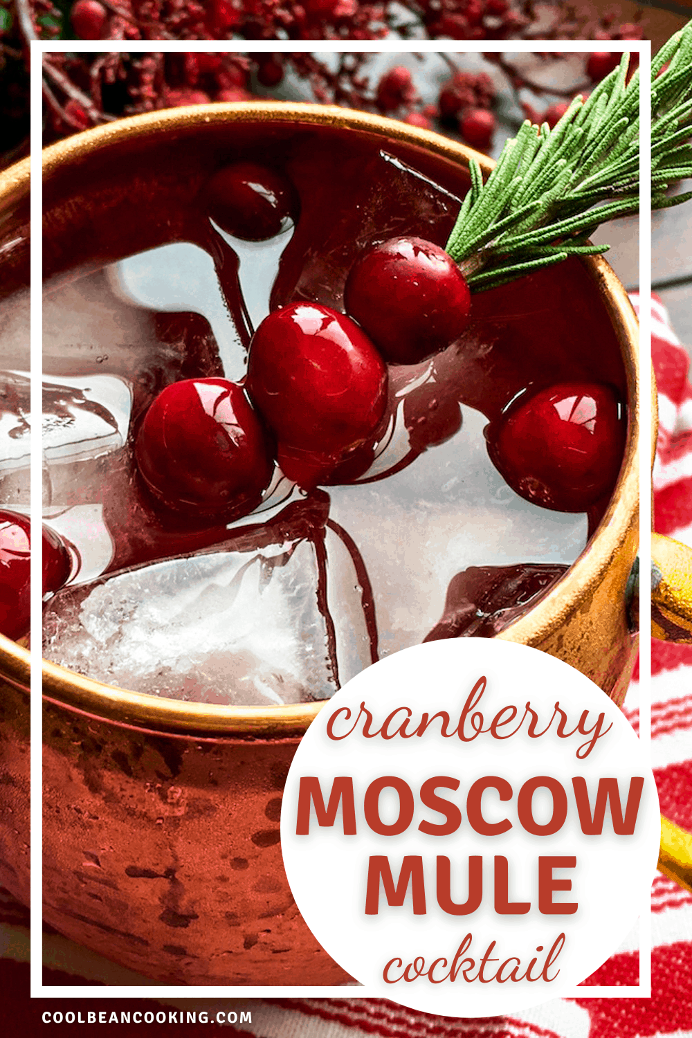 Festive Cranberry Moscow Mule Cocktail