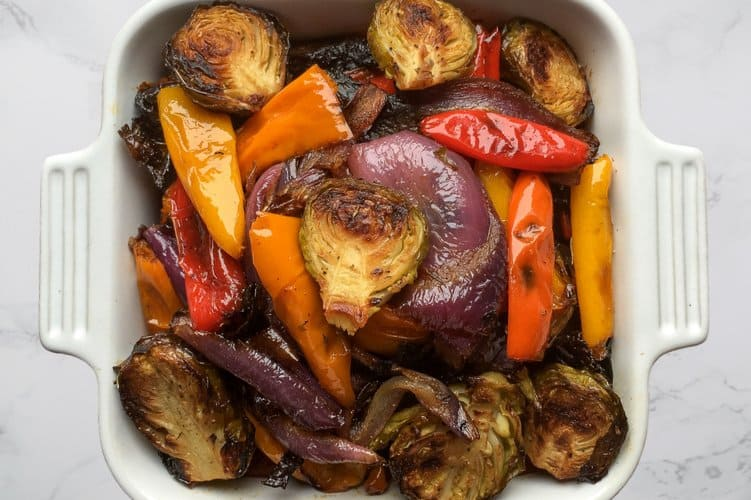 One Sheet Pan Roasted Vegetables