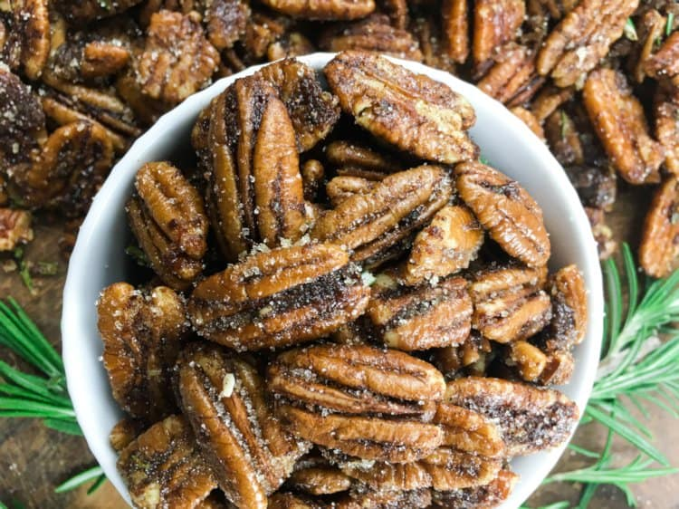 Sweet Spicy Roasted Pecans
