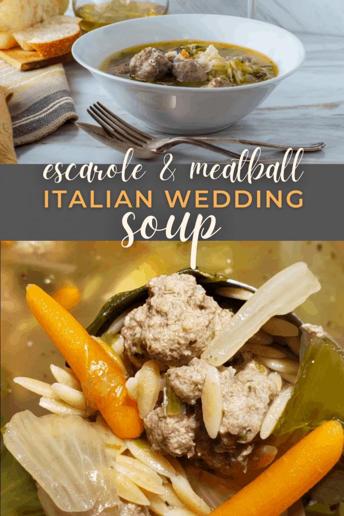Escarole and Meatball Italian Wedding Soup