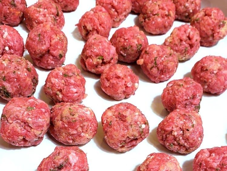 Mini Meatballs for Soup