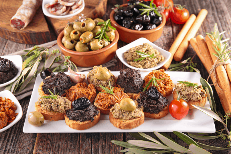 different types of tapenade spread