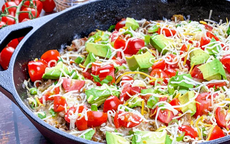 easy one pan taco skillet
