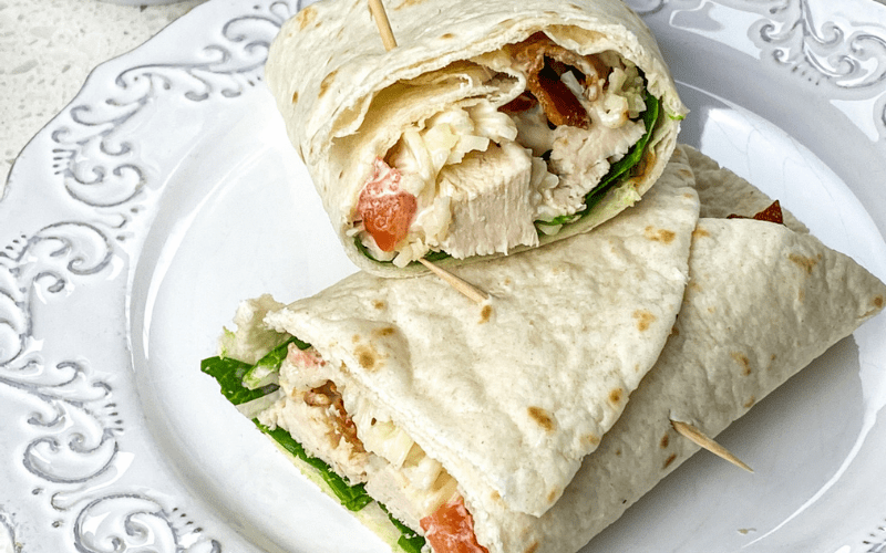 chicken bacon wrap sandwich
