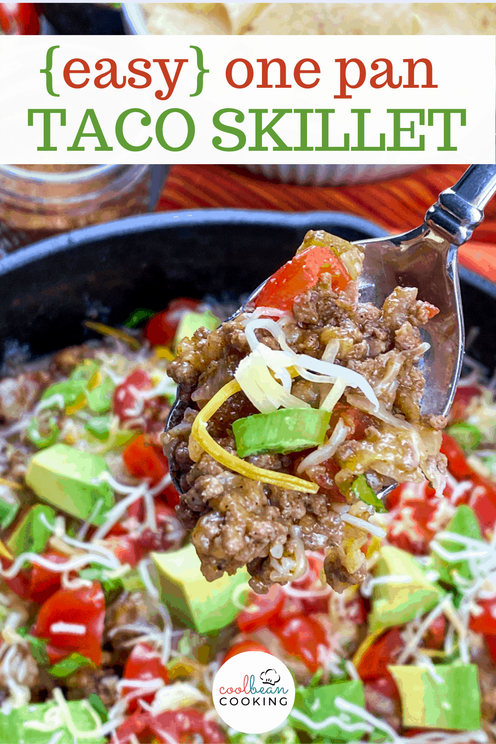 low carb ground beef taco skillet