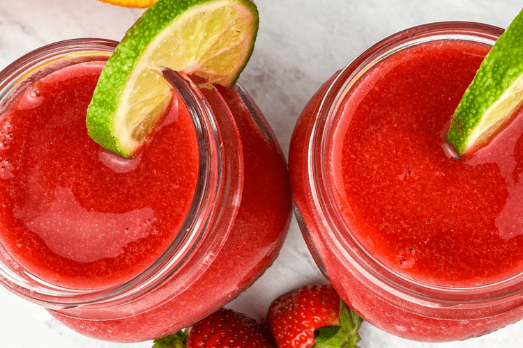 delicious strawberry margaritas