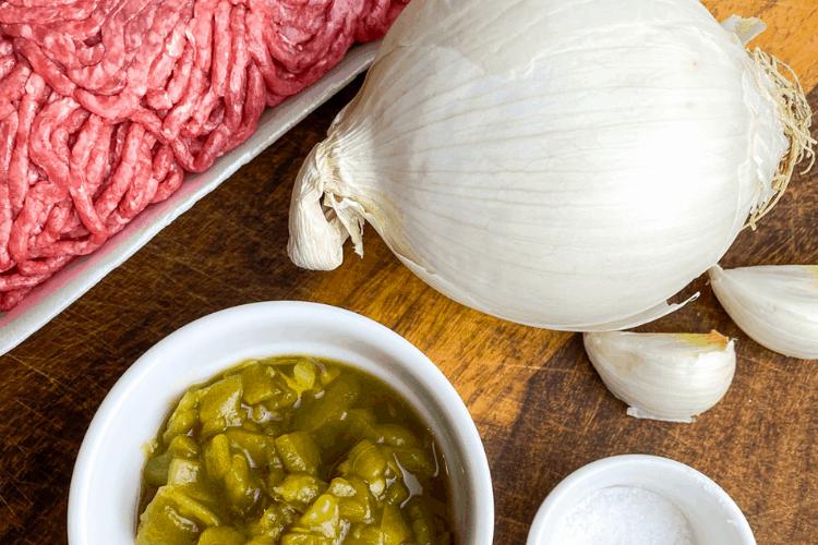ingredients for making beef enchiladas