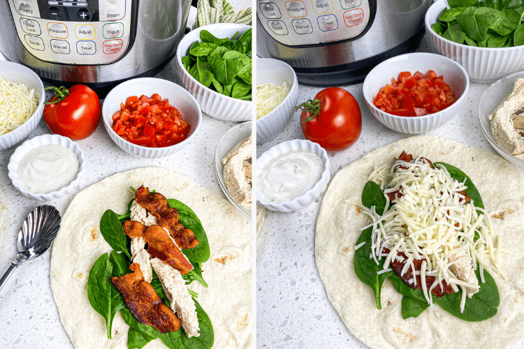 how to make a chicken bacon ranch wrap