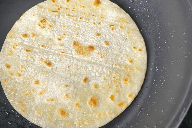 browning corn tortillas
