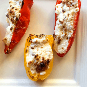 cheesy bacon stuffed small peppers