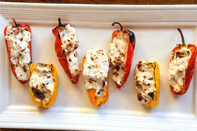 cheese and bacon stuffed mini peppers