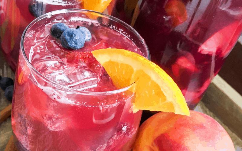 sweet summer peach sangria