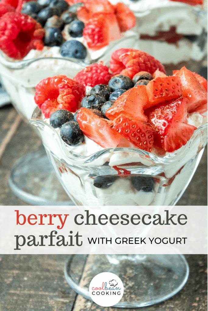 mixed berry cheesecake parfait