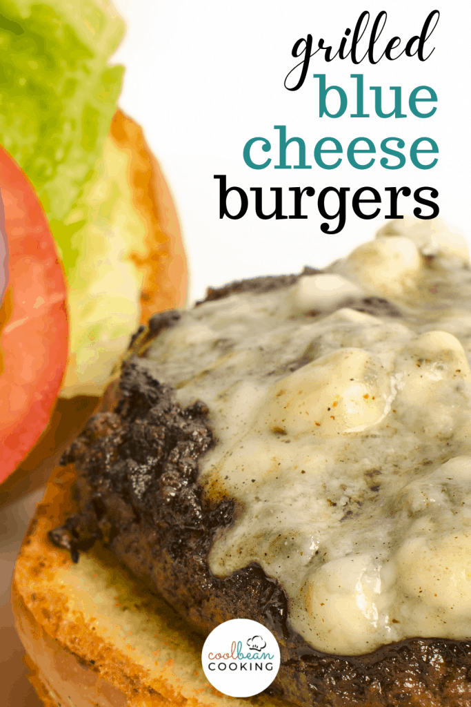 grilled blue cheese burger