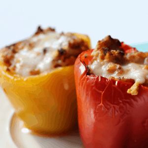 turkey and rice stuffed peppers