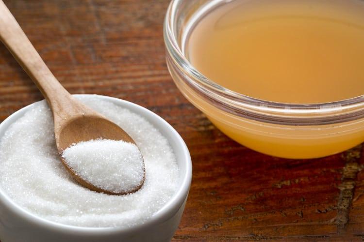 apple cider vinegar and sugar