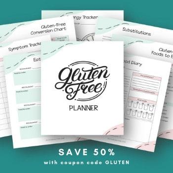 gluten-free planner and organizer
